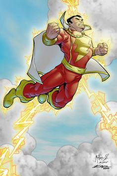 Original Captain Marvel, Captain Marvel Shazam, Dc Heroes, Comic Book Heroes, Comic Books, Superhero Characters, Dc Comics Characters, Marvel Images, Marvel Art