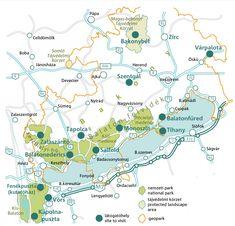 """Áttekintő térkép és """"pecsételős"""" leporelló látogatóhelyekről - Balaton-felvidéki Nemzeti Park"""