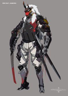 Futuristic Samurai, Futuristic Armour, Futuristic Art, Fantasy Character Design, Character Design Inspiration, Character Concept, Character Art, Arte Ninja, Arte Robot