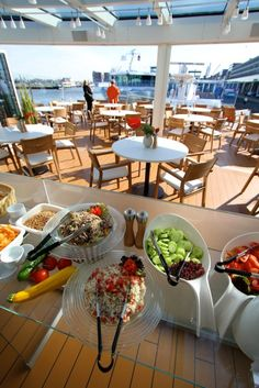 Light lunches are served at the Aquavit Terrace aboard the Viking Odin.