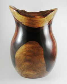 Wood Vase No.130637  Cocobolo Natural Edge by conreysa on Etsy, $210.00