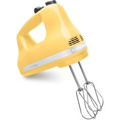 Kitchenaid Khm512 5 Sd Hand Mixer With Turbo Beater Accessories Majestic Yellow Small Liances Mixers