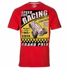 True Red Speed City Racing tee from Huetrap. #graphictees, #mensfashion, #onlineshopping, #tees, #tshirts