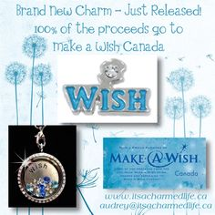 Brand New Make a Wish Charm available from South Hill Designs It's A Charmed Life. 100% of proceeds will go to Make a Wish Canada!! #mawcanada
