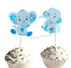 Elephant Cupcake Toppers Blue Elephant Toppers Boy Baby Shower Elephant Decor Custom Hand Made Baby Elephant Baby Boy Shower by PartySurprise on Etsy Elephant Baby Boy, Elephant Baby Showers, Baby Boy Shower, Safari Party Decorations, Elephant Cupcakes, Gender Reveal Decorations, Balloon Dog, Confetti Balloons, Cat Party