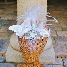 http://www.etsy.com/listing/80205023/bridal-headband-butterfly-crystal-white bridal headband #wedding #bride #headpiece