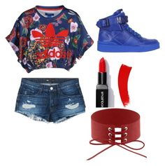 """""""Untitled #5"""" by ettadance56 ❤ liked on Polyvore featuring Moschino, adidas Originals and 3x1"""