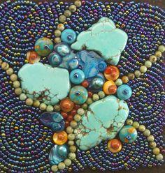 OCEAN DREAM, Bead Painting, beads, art, gift, unique, handmade, sea sediment jasper, semi precious gems, Australia, art, the sage wreath by JaneBariDesign on Etsy https://www.etsy.com/listing/201464118/ocean-dream-bead-painting-beads-art-gift