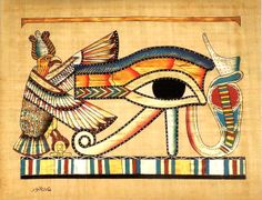 Ancient Egyptian Art on Egyptian Papyrus. Unique Handmade Art For Sale at…