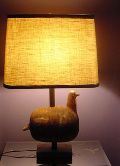 Aldo Londi Bitossi for Raymor Bird Lamp Sculpture Unglazed 1960's Mid Century | eBay