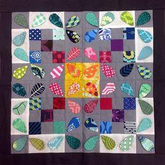 'honey bee'  tutorial: http://whynotsew.blogspot.com/2012/04/hand-pieced-quilt-long-block-12-honey.html