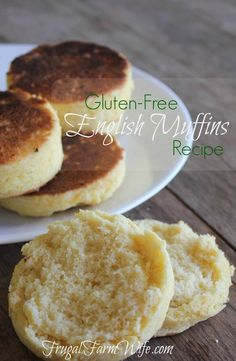 This gluten-free english muffins recipe is amazing! I have missed english muffins so much - it's so good to have them back again! This gluten-free english muffins recipe is so much easier than I thought it would be! Zucchini Muffins, Muffins Blueberry, Blueberry English Muffin, Gluten Free English Muffins, English Muffin Recipes, Gf Recipes, Dairy Free Recipes, Cooking Recipes, Cooking Ribs