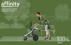100% Playful - Britax Affinity Stroller with Cactus Green Color Pack - Britax USA