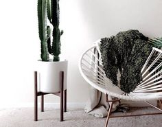 Mediados siglo moderna planta soporte, de la mano hecho en Canadá, madera de nogal, Retro Home Decor