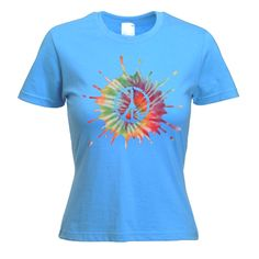 fancy shirts | Psychedelic CND Symbol Women's Fancy Dress T-Shirt