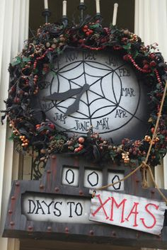 DISNEYLAND - HAUNTED MANSION HOLIDAY - NIGHTMARE BEFORE CHRISTMASCountdown Clock This is a tutorial on how to make the Nightmare Before Christmas Countdown Clock. This clock appears in Halloween Town