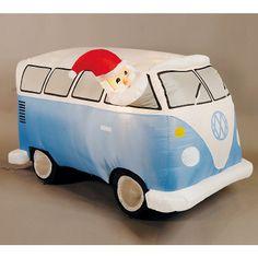 Inflatable Santa In Blue Camper Van (Asda)