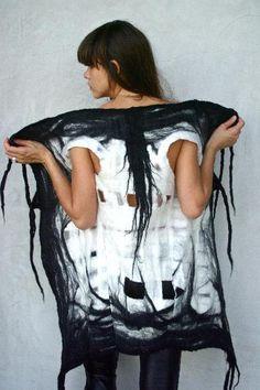 Felted wool vest from Taiana Geifer