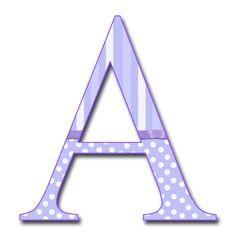 un alphabet dans de frais tons de mauve et blanc... (au format .png)
