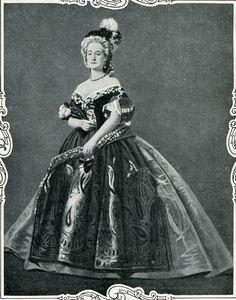 Empress Eugiene of France as Marie Antoinette
