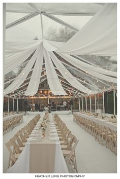 amazing tent details. Love all the white - makes is look like snow