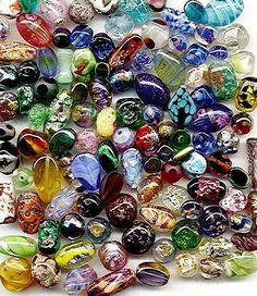 vintage glass beads. I'd love to have some of these!