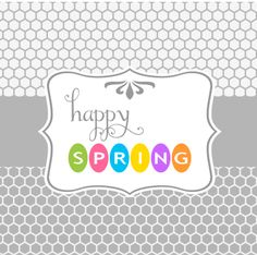 """Happy Spring"" free printable"