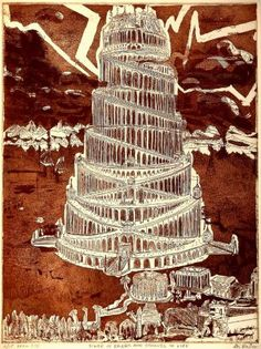 "Saatchi Art Artist Jerry Gerard Di Falco; Printmaking, ""Tower of Babel"" #art"