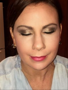 Warm smoky eye. Bronzes and browns. Soft cranberry lip.  All Younique except mascara and lipstick.
