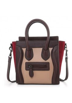 af3f676b6104 Mini Tote In Smooth Leather Choco Pink Burgundy Smooth Leather
