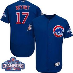 a07292443 Men  Majestic Chicago Cubs Ryne Sandberg Royal Blue 2016 World Series  Champions Flexbase Authentic Collection MLB Jersey