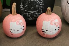 Hello Kitty Pumpkins.