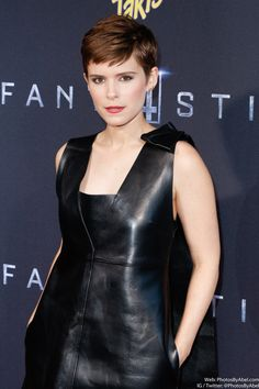 Kate Mara at the New York premiere of 'Fantastic Four'