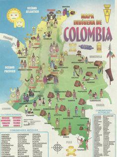 mapa de las culturas indigenas de colombia
