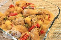 Pinoy Recipe: Pininyahang Manok with Gata  please share... #filipinofood #delicious #FilipinoRecipes  http://www.pinoyrecipe.net/pininyahang-manok-with-gata-recipe/