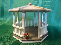 Miniature Gazebo for Dollhouse. Quarter by LindaIrwinCottages, $25.00