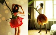 pink rose and brown tulip skirts