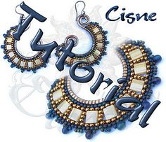 Earrings Cisne by Elendilli tutorial. This is very similar to a design for a necklace I've got running around in my mind.