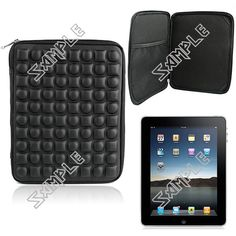 Stylish Shock Resistant Protective Cover Case Bag Pouch with Zipper for iPad 2/3/4 iPad Air Tablet Laptop - Black