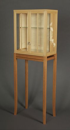 Boxwood and Sycamore Cabinet on Stand