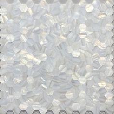 Handmade White Groutless Hexagon Mother of Pearl Mosaic Tile For Bathroom Tile Kitchen Tile Shower Tile Wall Backsplash Tile pool tiles texture Mosaic Wall Tiles, Mosaic Backsplash, Kitchen Wall Tiles, Mosaic Glass, Kitchen Backsplash, Kitchen Mosaic, Kitchen Shower, Bathroom Tiling, Bathroom Sconces