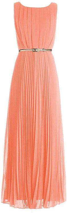 Amazon.com: Maillsa Fancy Women's Neckline Chiffon Dress PP33 Peach: Clothing Vertical Striped Dress, Vertical Stripes, Etiquette, Chiffon Dress, Nice Dresses, Party Dress, Peach, Neckline, Fancy