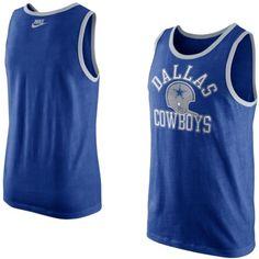 $33.95 Mens Nike Navy Blue Dallas Cowboys Rewind Tank Top