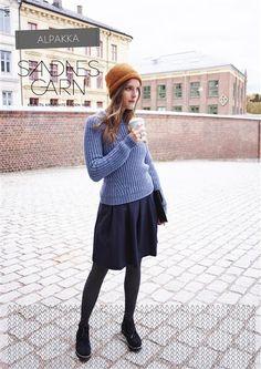 1411 Alpakka Voksen #SandnesGarn #strikk #knit #alpakka