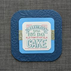 Blue Birthday Card Handmade Card Hand by CraftyCarolynsCards