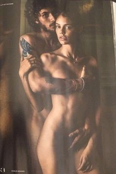 Chay Suede e Laura Neiva posam nus para o fotógrafo Mario Testino
