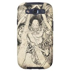 Classic vintage japanese demon ink tattoo painting Case-Mate Samsung Galaxy S3 Vibe Case #classic #vintage #japanese #ink #tattoo #demon #painting #samsung #galaxy #s3 #case #cover #vibe #gift #Japan #oriental #sumi-e