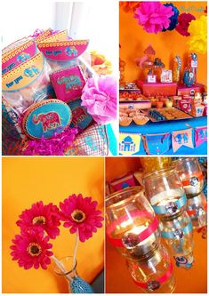 This party was submitted by Bird Crafts and was designed in honor of a wedding anniversary. I immediately was struck by the vibrant colors ans Indian flair. This Bollywood party theme is very unique and also very bright! Bollywood Party Decorations, Bollywood Theme Party, Bollywood Baby Shower, Bollywood Wedding, Indian Bollywood, Indian Party Themes, Indian Theme, Indian Style, Baby Shower Themes