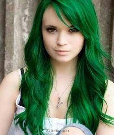 This color different and screams fun and trendy. I love this for her pale skin tone. #haircolor.