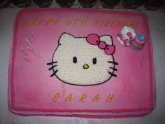 Sarah's 6th Birthday Cake, Hello Kitty